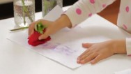 Make invisible ink with flowers